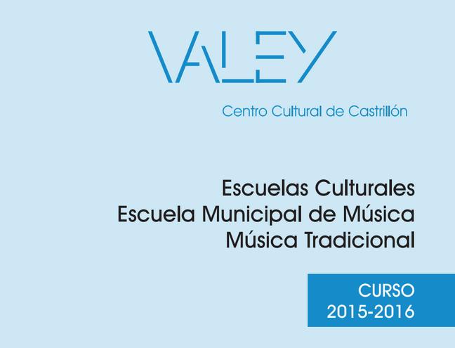 Oferta escuelas culturales 2015-2016