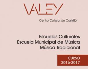 Matrícula del 13 al 23 de Septiembre de 2016 ambos inclusive en horario de 16:30 a 20:30 horas en el Valey Centro Cultural de Castrillón, Piedrasblancas