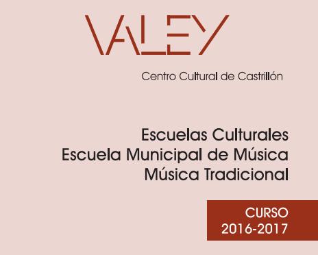 Oferta escuelas culturales 2016-2017