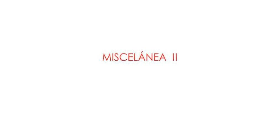 Exposición. Colectiva MISCELÁNEA II