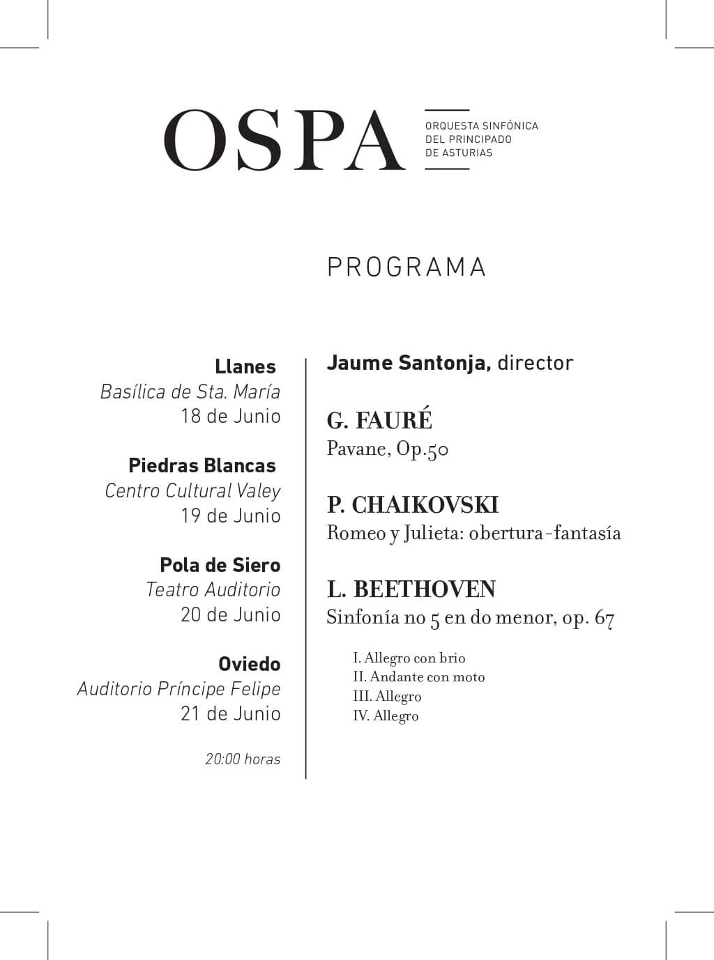 programa concierto ospa